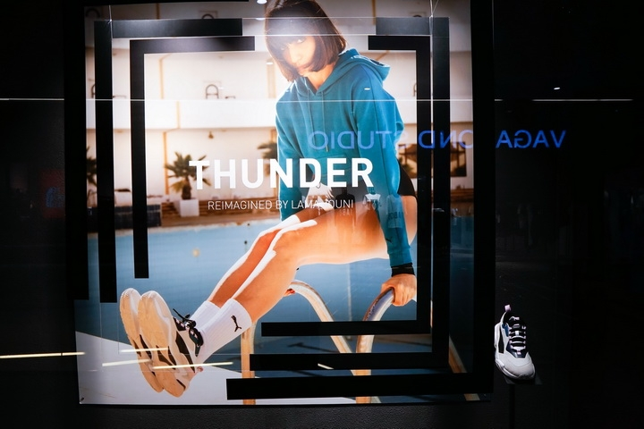 Puma Thunder shop window concept by Glamshops