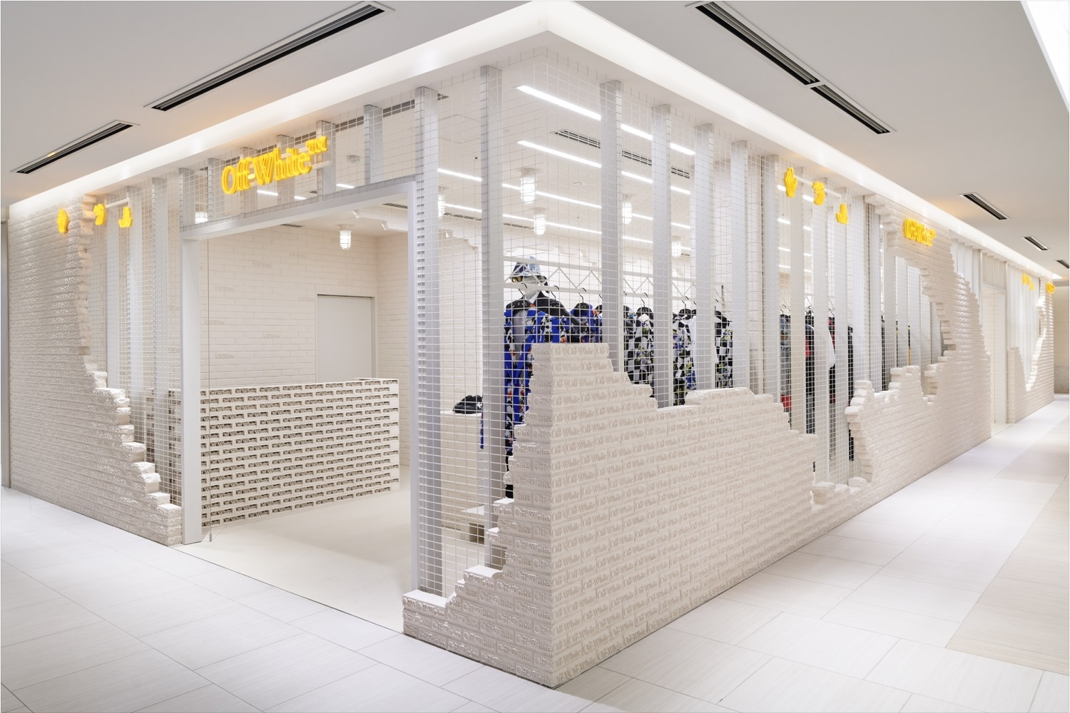 Off-White store in Tokyo at Ginza by SITE studio