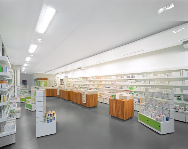 Adler pharmacy design by Kinzo