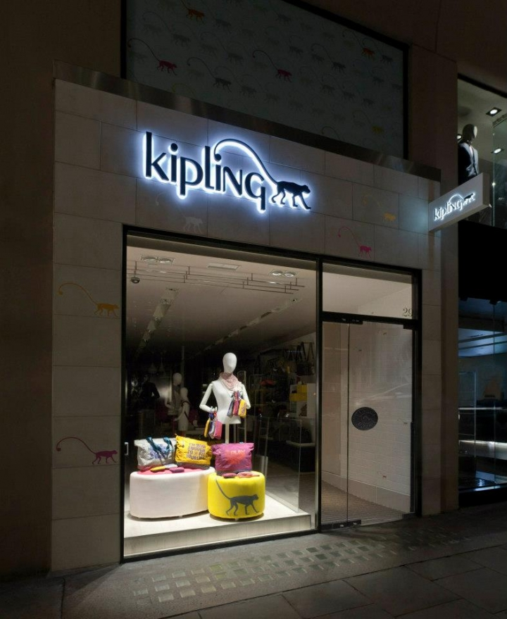 Kipling stylish shop interior in London