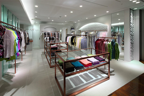 Nice Color blocking in I-NY store Japan