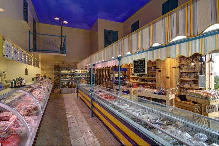 Amigos meat store by Ron Bliberg, Israel