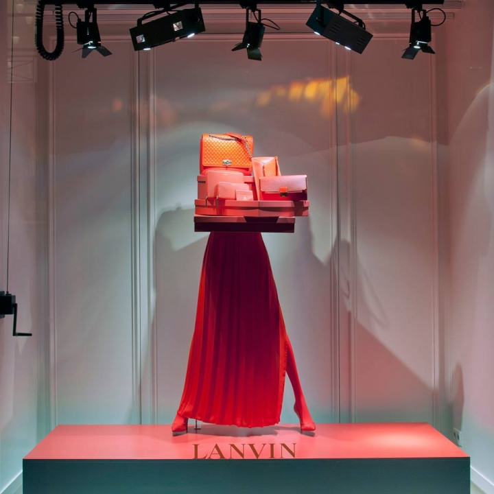 "Lanvin ""ANONYMOUS "" windows display Paris"