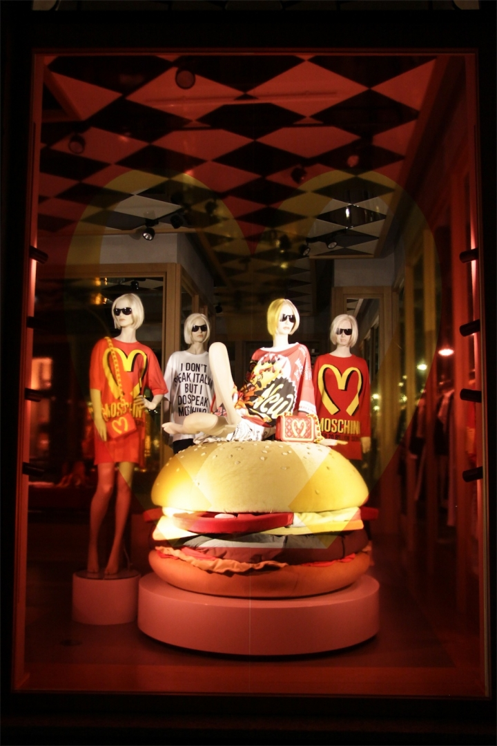 Moschino visual merchandising Milan 2014