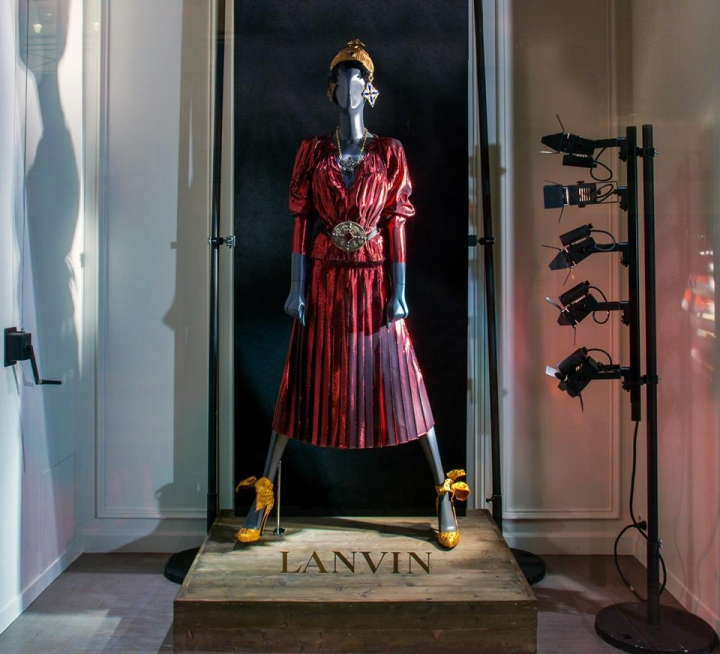 The Storefronts of LANVIN in Paris