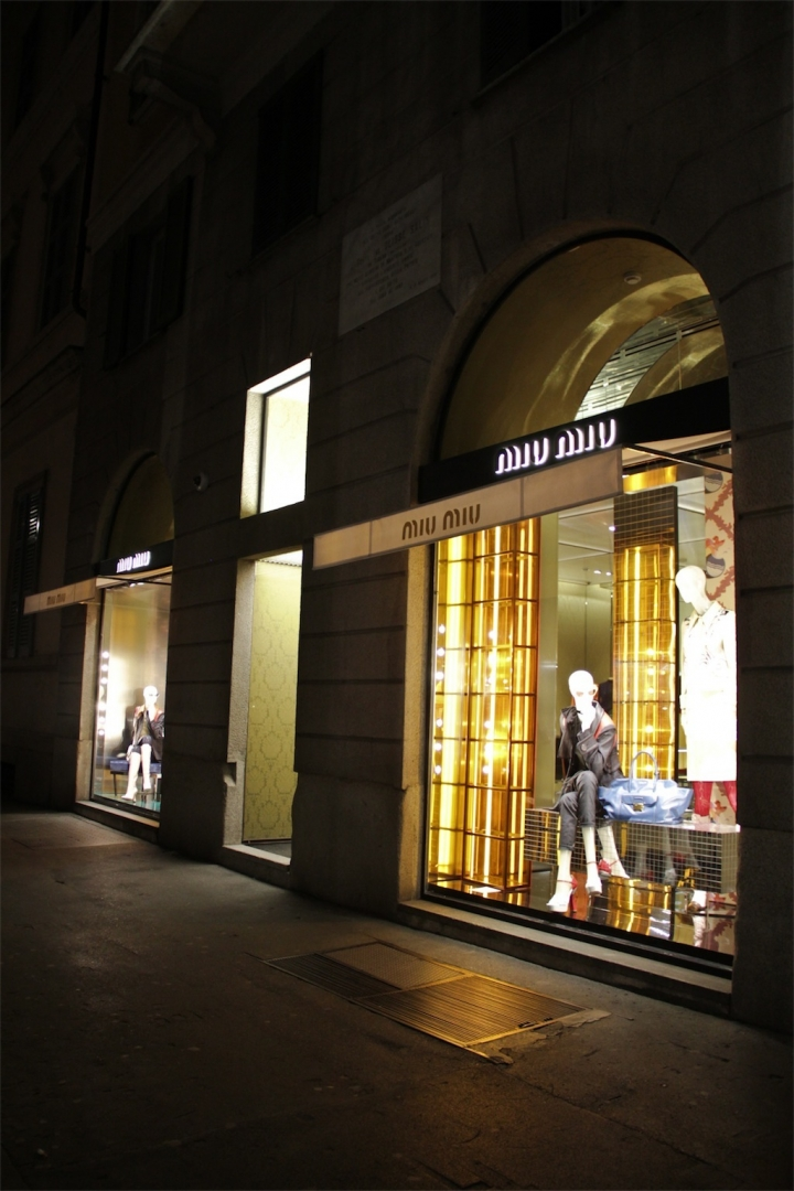 Miu Miu windows display Milan