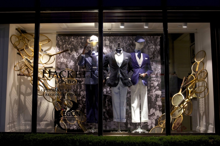 Hackett The Queen's Tennis' window displays