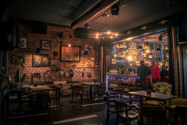 Joben Bistro Pub -Steampunk design by  6th Sense studio - Cluj Napoca