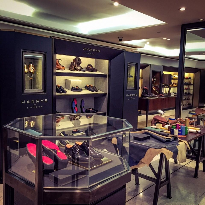 Harrys of London store interiors and displays