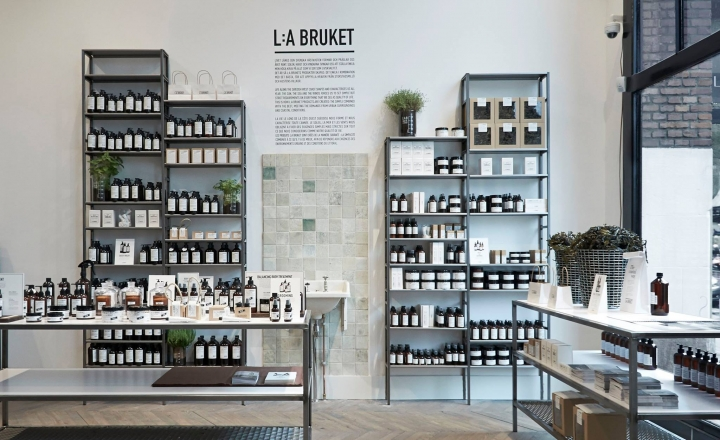 We Are Labels flagship store design in Amsterdam