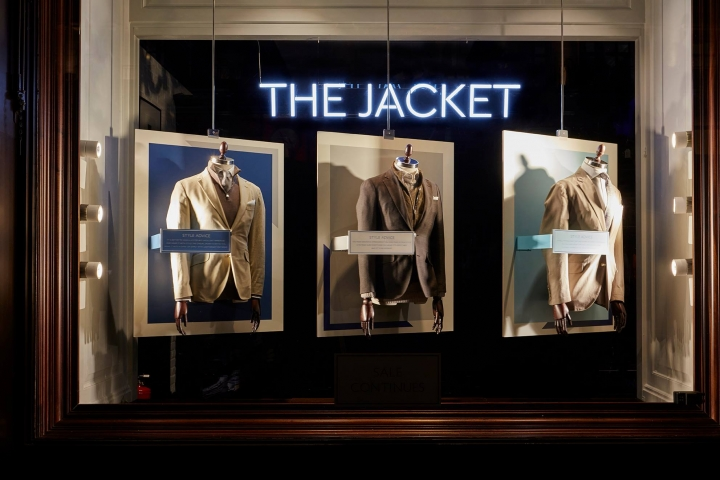 Hackett London - The Jacket windows display by Harlequin Design
