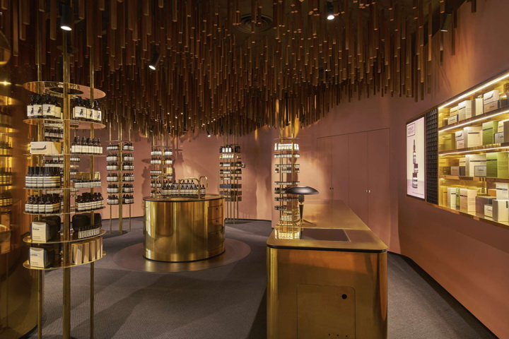 Aesop store in Singapore Orchard Road by Snøhetta