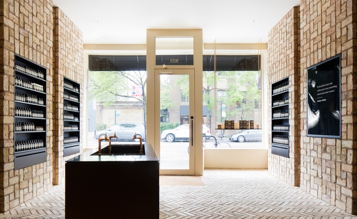 Aesop Chicago designed by Norman Kelley using reclaimed bricks