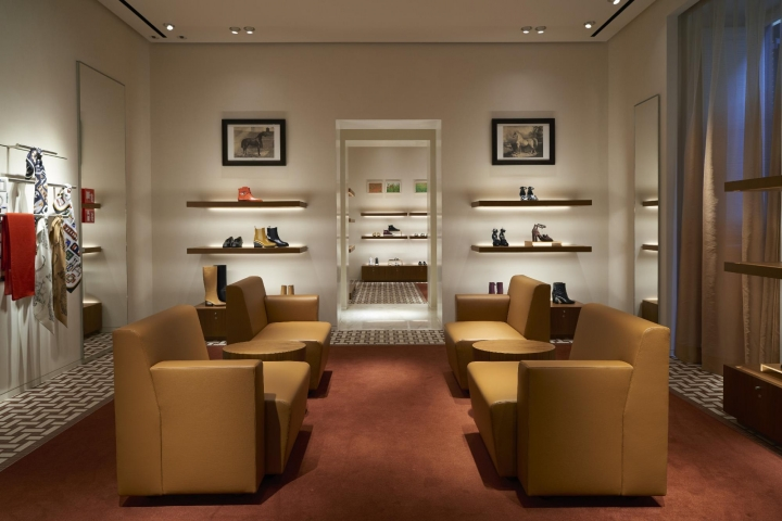 Hermes new flagship store in Rome on Via Bocca di Leone