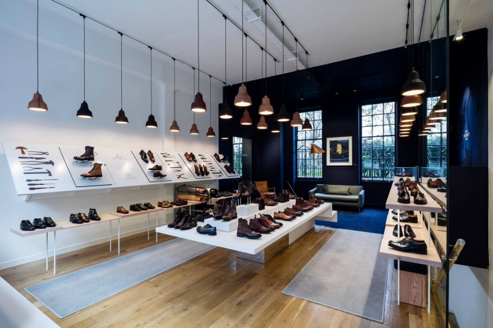 British footwear brand Joseph Cheaney & Sons store by Checkland Kindleysides