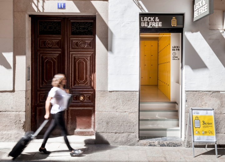 Lock&be free urban lockers in Madrid by Wanna One studio