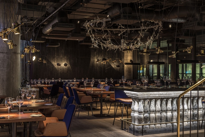 MUST premium steak house in Kyiv, designed by YOD design Lab