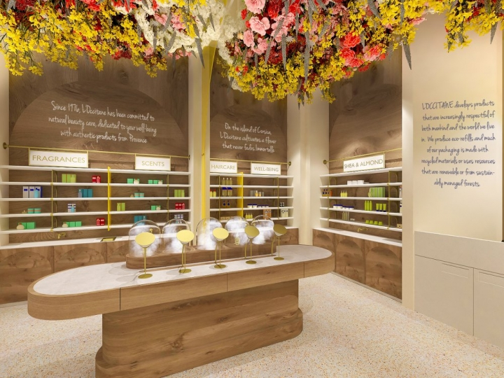 L'Occitane Shop interior concept