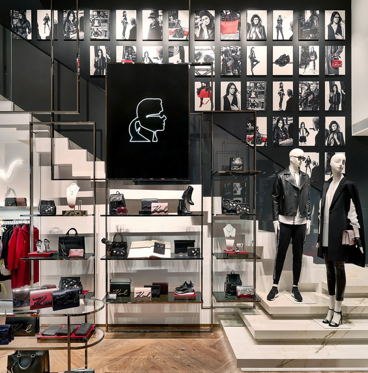 new design concept for KARL LAGERFELD store in Munich by Plajer & Franz studio