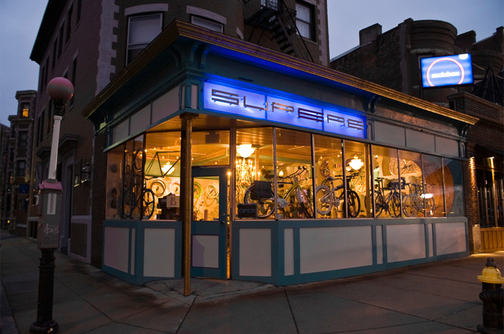 Superb bicycle boutique by OZIIO, Boston