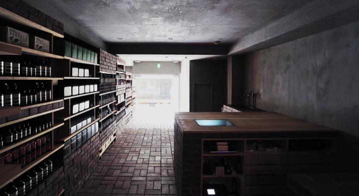 Aesop's Tokyo  - vintage shop retail environment