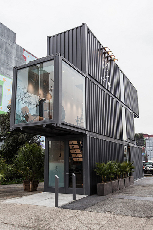 aether shipping containers pop-up store opening in San Francisco