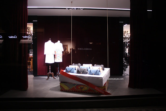 DOLCE AND GABBANA shop windows display in London/ BOND STREET