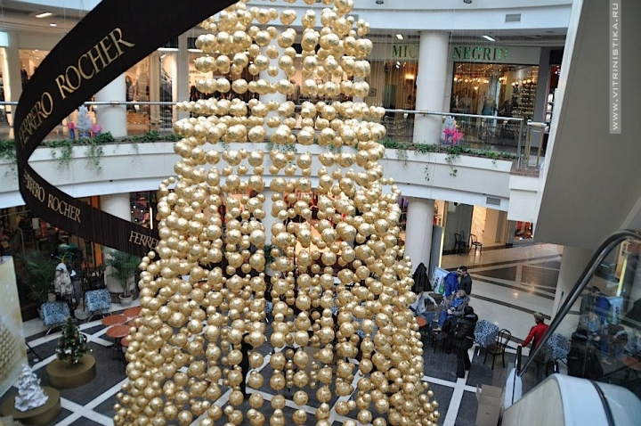 "Ferrero Roche  new-year decoration  Kiev Trade Center ""Globu"