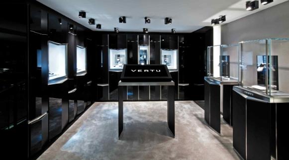 Vertu boutique redesigned retail environment