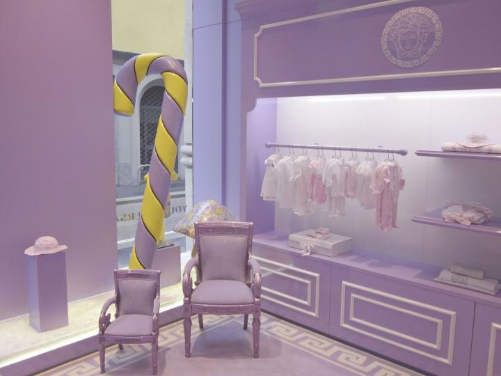 Young Versace boutique Milan