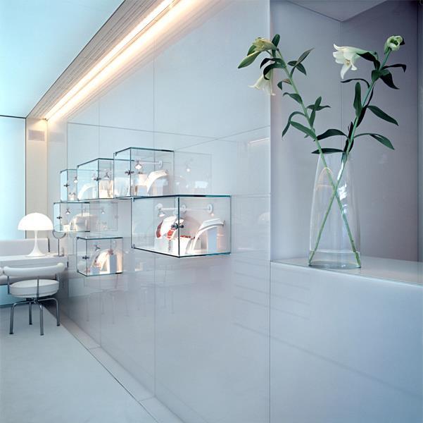 Anima jeweller's shop minimalist shop interior