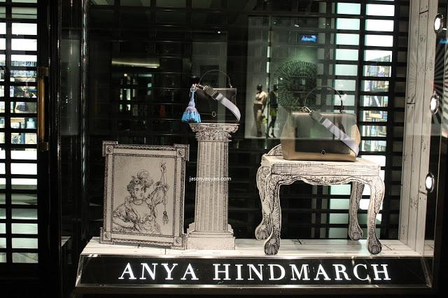 ANYA HINDMARCH shop windows IN BOND STREET