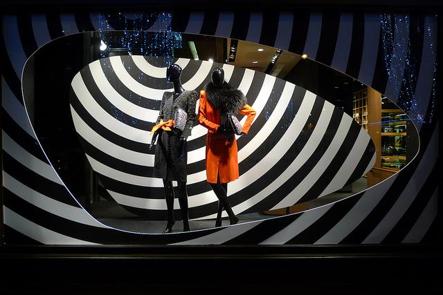 Sonia Rykiel shop windows display in Paris