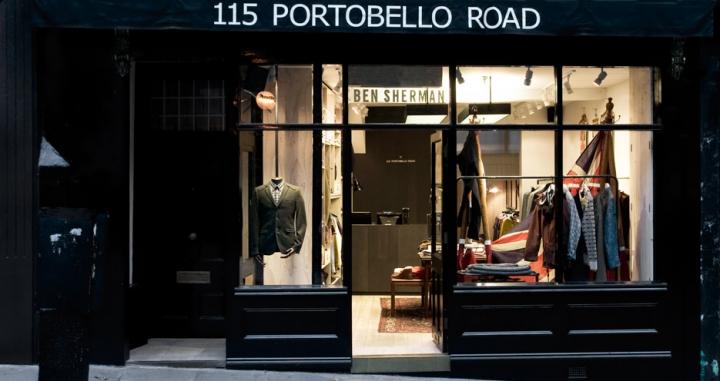 Ben Sherman shop on Porto belo road