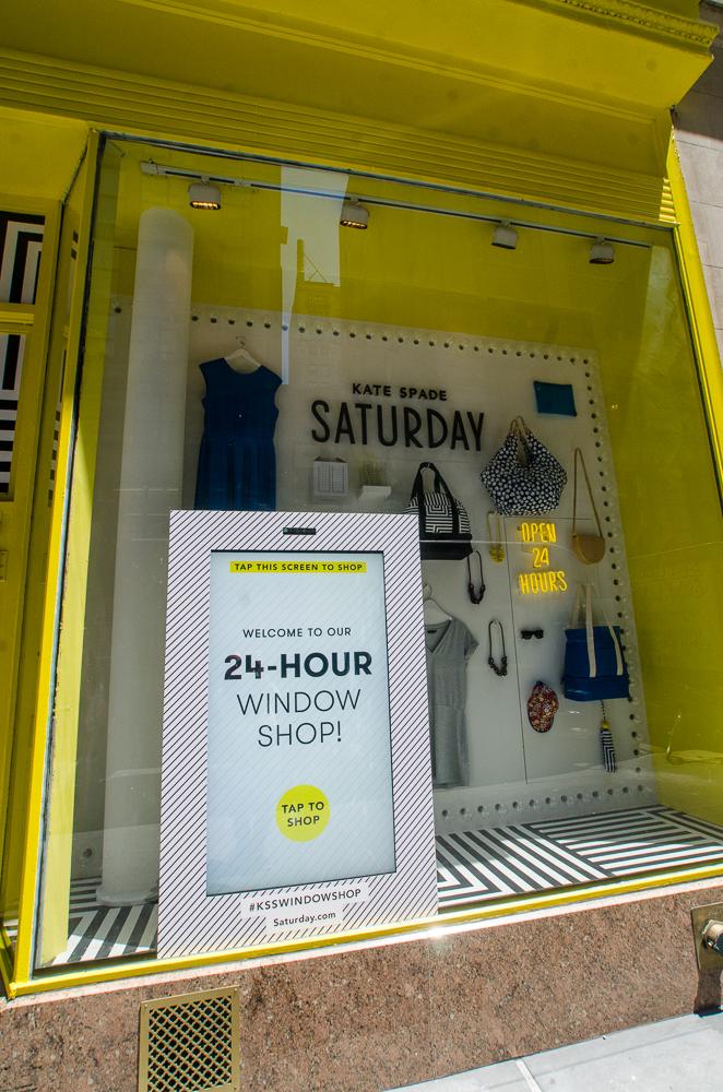 Kate Spade 24hr shoppable interactive store Windows
