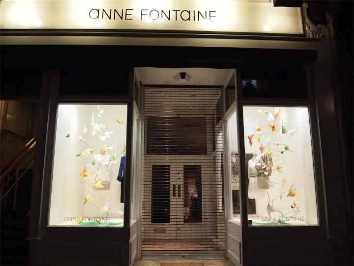 Anne Fontaine display on bondstreet