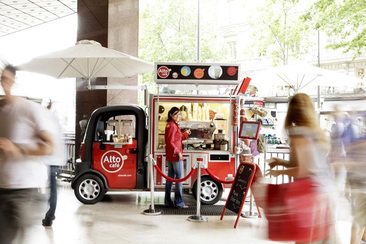 Alto Café mobile pop-up store, Paris