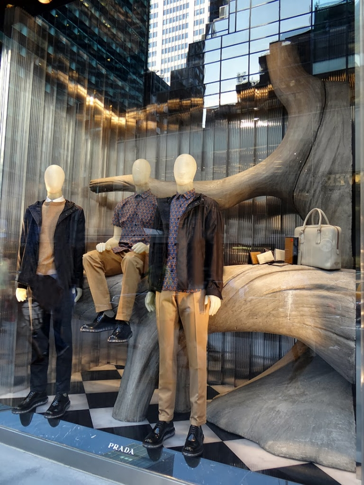 Prada display NYC