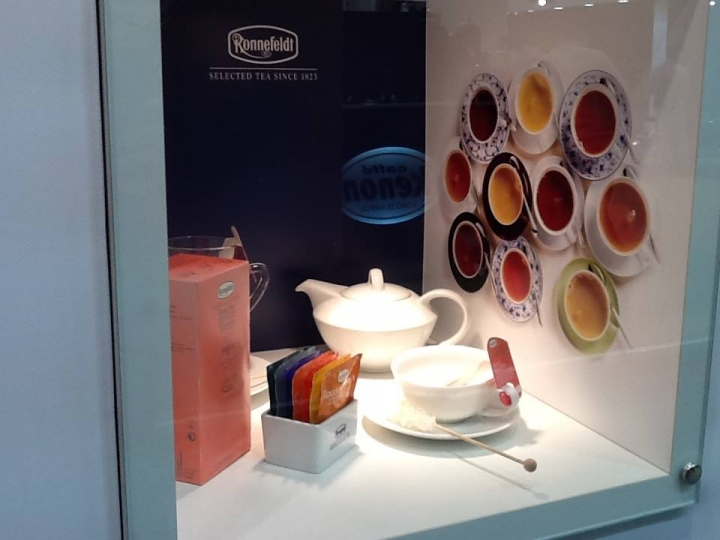 Visual merchandising in a shadow box display