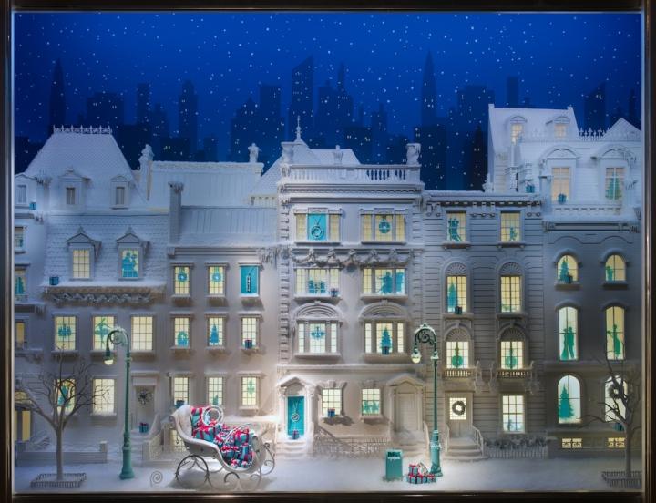 Tiffany windows display for Christmas 2013