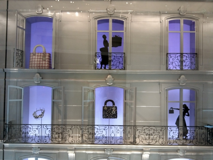 Dior Christmas display Jakarta