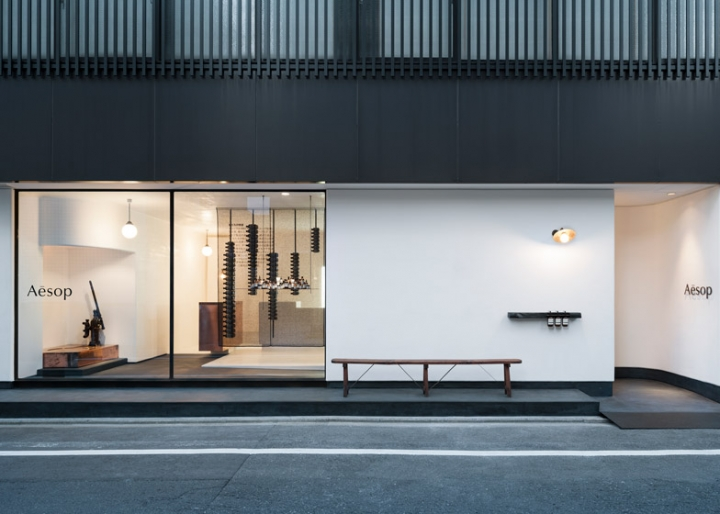 Aesop skincare store in Kyoto by Simplicity