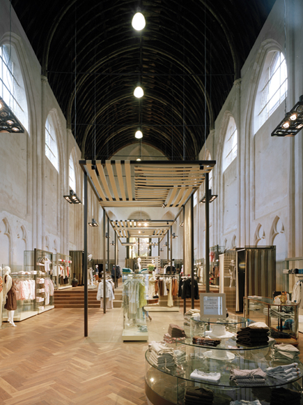 McGregor flagship store in a chapel by Conix Architects