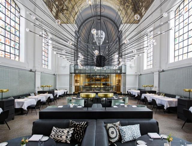 Old Chapel Converted in Restaurant in Antwerp
