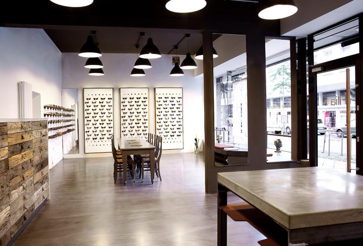 Filia76 eyeware store by Claudia Weber