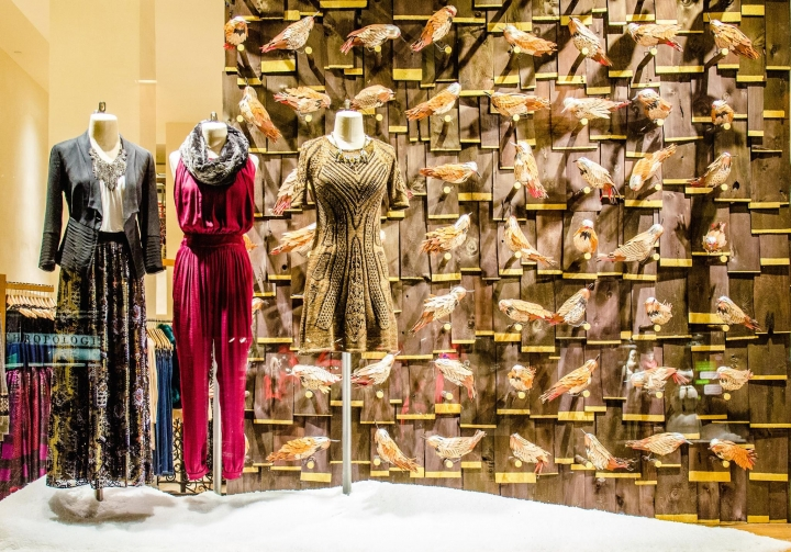 ANTHROPOLOGIE, Fifth Avenue christmas display 2014