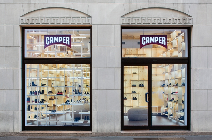 Kengo Kuma re-designed the Camper store in Milan