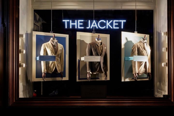 Hackett London - The Jacket windows display by Harlequin Design