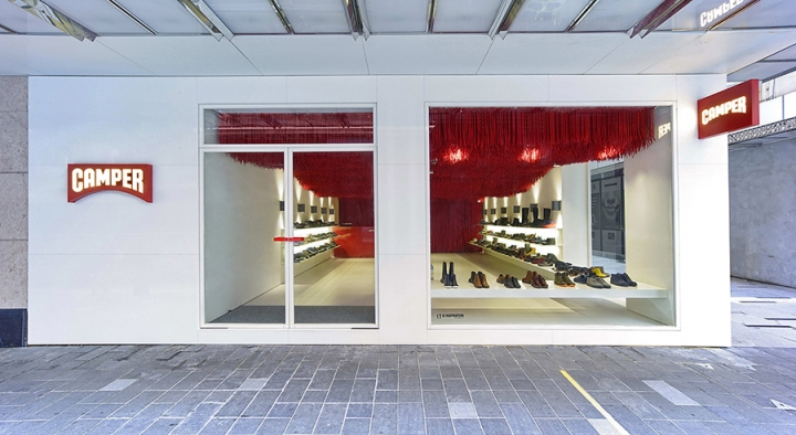Camper store design by Marko Brajovic in Hong Kong