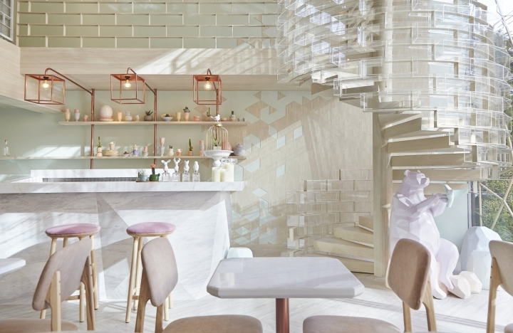 SHUGAA dessert bar in Bangkok by party/space/design